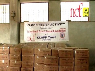 台灣物資包準備發放給巴基斯坦災民