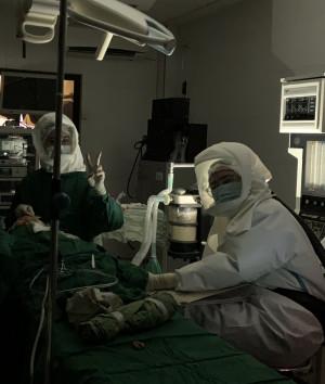 手術中,停電窘境